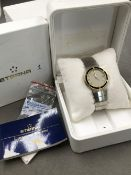 A GENTS ETERNA GALAXIS QUARTZ WATCH WITH STAINLESS STEEL BRACELET STRAP. REF NUMBER 156/161 4294 47,
