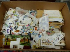 LARGE QUANTITY OF WORLD STAMPS LOOSE AND IN ALBUMS.