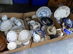 A LARGE QUANTITY OF VARIOUS ANTIQUE AND LATER CHINA WARES.