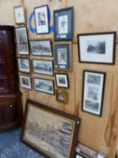 A COLLECTION OF ANTIQUE AND LATER PORTRAIT AND TOPOGRAPHICAL PRINTS INCLUDING THEATRICAL