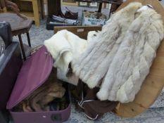 VARIOUS FUR COAT, CAPES, SCARVES, ETC.