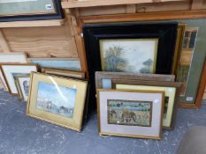 A COLLECTION OF ANTIQUE AND LATER DECORATIVE PRINTS AND FURNISHING PICTURES
