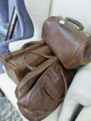 THREE GLADSTONE BAGS