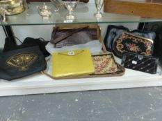 A COLLECTION OF EVENING BAGS AND HANDBAGS