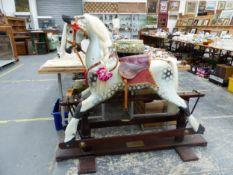 A DAPPLED GREY ROCKING HORSE, LTD EDIT. FOR 2000 212/500