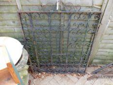 A WROUGHT IRON GARDEN GATE