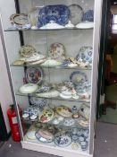 A COLLECTION OF CERAMIC LIDS