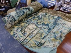 A FRENCH TAPESTRY WALL HANGING.