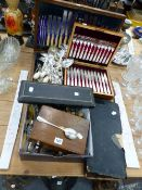CASED AND LOOSE ELECTROPLATE CUTLERY