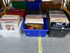 A QUANTITY OF LP RECORDS, MAINLY JAZZ, BIG BANDS, BLUES AND SOUL