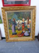A DECORATIVE PAINTING AFTER A 19th/20th CENTURY FRENCH ARTIST, OIL ON CANVAS, THE STRETCHER STAMPED,