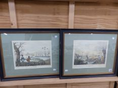 A PAIR OF HAND COLOURED SHOOTING PRINTS