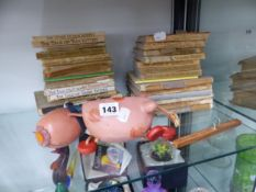 APPROXIMATELY 30 BEATRIX POTTER BOOKS TOGETHER WITH A PELHAM PUPPET COW