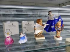 THREE DOULTON AND TWO HUMMELL FIGURES