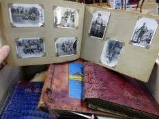 A QUANTITY OF PHOTO ALBUMS INCLUDING SOME MILITARY SUBJECTS