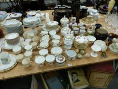 AYNSLEY AND OTHER TEA WARES, A SCHUMANN DESSERT SERVICE, VASES, ETC.