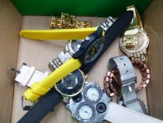 A GROUP OF VARIOUS WRISTWATCHES.