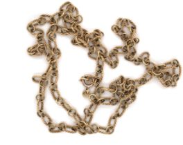 A VINTAGE 9ct HALLMARKED GOLD FANCY LINK CHAIN .HALLMARKED AND DATED 1976, WITH IMPORT MARK FOR