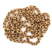 A 9ct HALLMARKED GOLD BELCHER CHAIN. LENGTH 73.5cms. WEIGHT 13grms.