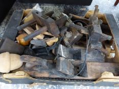 A BOX OF WOODWORKING TOOLS.