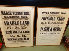 THREE LARGE PAXTON & HOLIDAY AUCTION POSTERS.