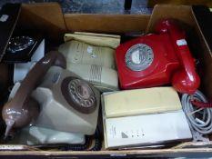 A QUANTITY OF VINTAGE TELEPHONES.