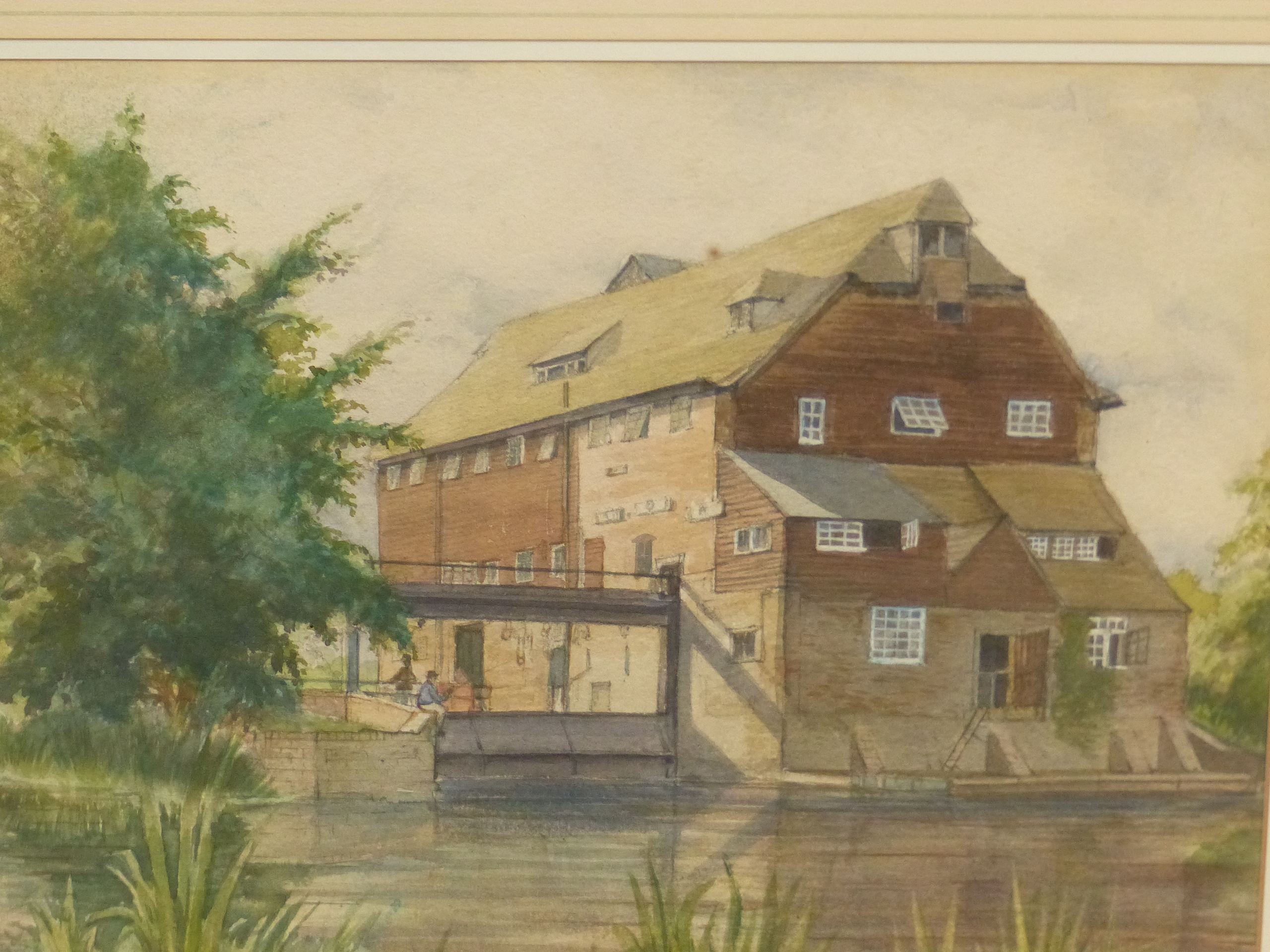 B.R TILBROOK (20th CENTURY SCHOOL). THE OLD MILL. SIGNED, WATERCOLOUR 23 x 32cms. - Image 2 of 5