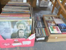 APPROXIMATELY 200 LP RECORDS AND A QUANTITY OF CDS MOSTLY EASY LISTENING.