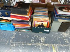 A VERY LARGE QUANTITY OF LP RECORDS AND BOX SETS, MAINLY JAZZ, EASY LISTENING AND CLASSICAL.