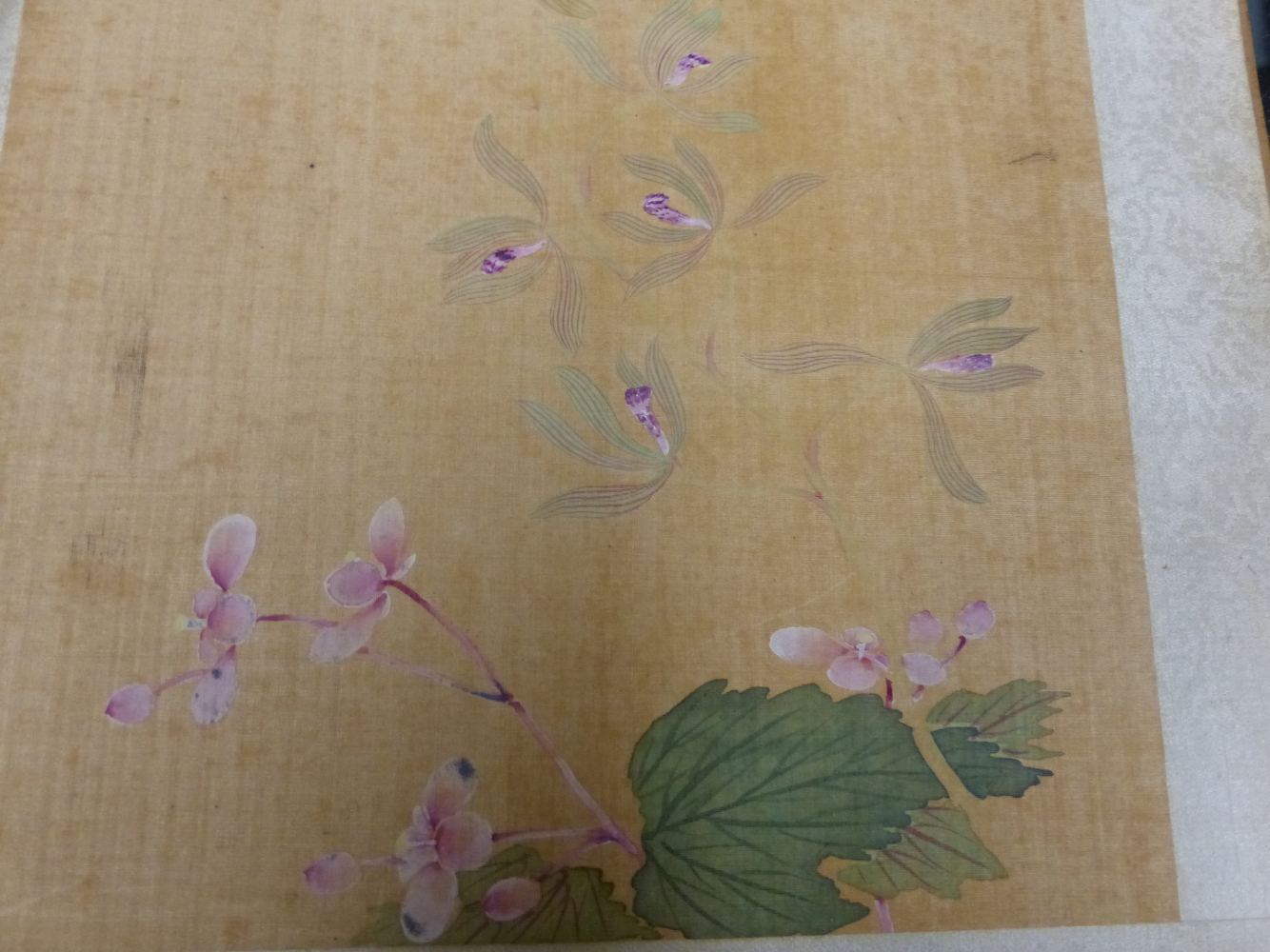 A CHINESE CONCERTINA BOOK OF EIGHT WATERCOLOURS ON SILK PAINTED WITH FLOWERS, BIRDS AND BUTTERFLIES, - Image 20 of 22