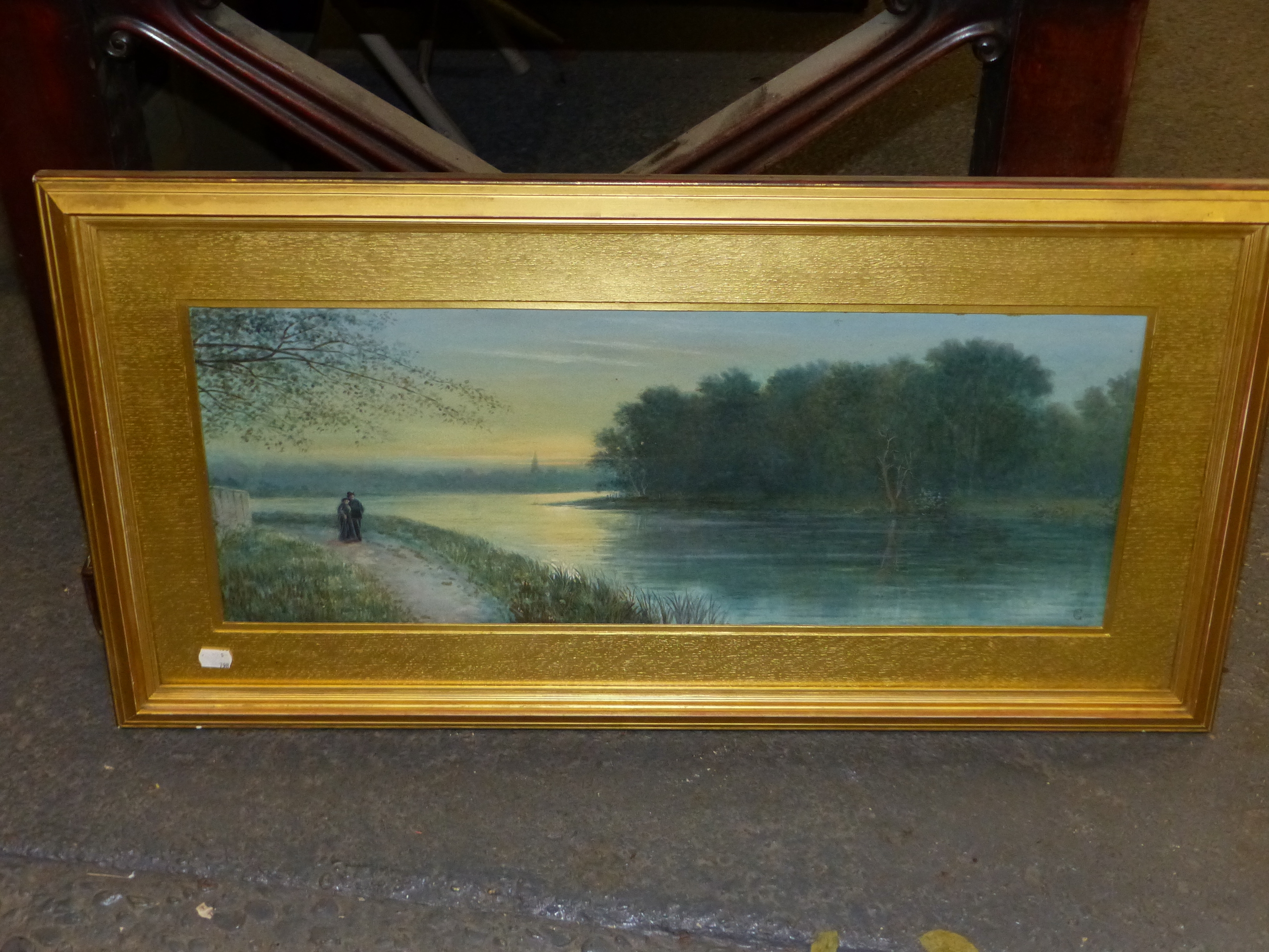 19th/20th C. ENGLISH SCHOOL HOMEWARD BOUND, SIGNED INDISTINCTLY WATERCOLOUR. 28 x 46 cms TOGETHER - Image 11 of 15