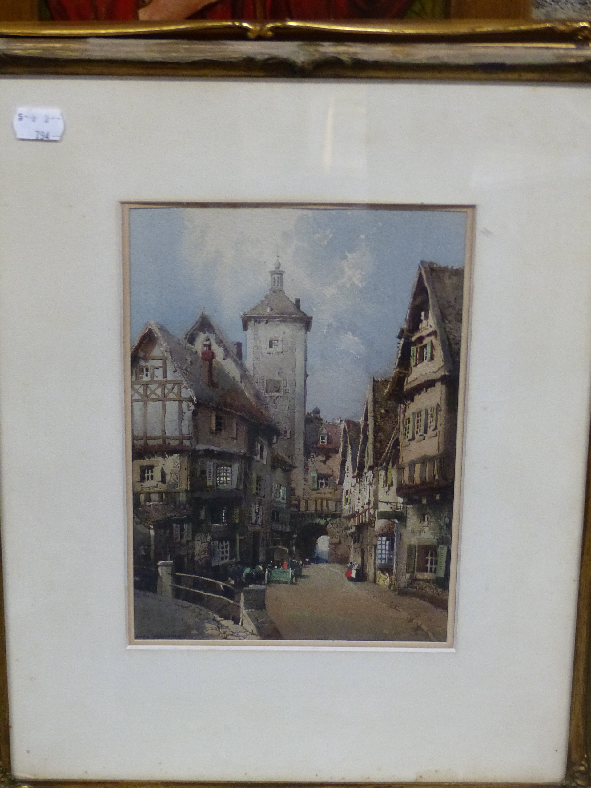 NOEL H LEAVER (1889-1951) A PAIR OF TOWN SCENES, SIGNED WATERCOLOURS. 26 x 18 cm (2) - Image 9 of 9