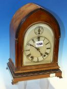 A WINTERHALDER AND HOFMEIER ROSEWOOD LANCET CASED BRACKET CLOCK AND BRACKET, THE PENDULUM MOVEMENT