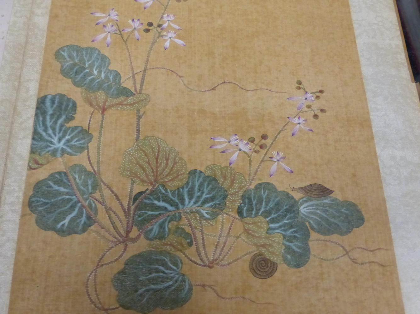 A CHINESE CONCERTINA BOOK OF EIGHT WATERCOLOURS ON SILK PAINTED WITH FLOWERS, BIRDS AND BUTTERFLIES, - Image 18 of 22