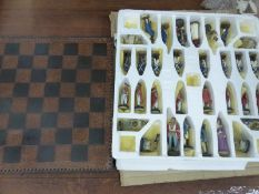 """A BOXED """"PIRATE"""" CHESS SET."""