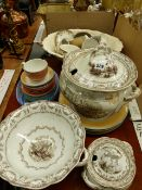 AN ALBION TUREEN AND TWO OTHERS TOGETHER WITH STEELITE PART DINNER SERVICE. A ROYAL DOULTON,