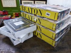 ASSOULINE PUBLISHERS SEALED BOOKS, BEATON THE ART OF THE SCRAP BOOK, FOUR IDENTICAL VOLUMES, DIOR,