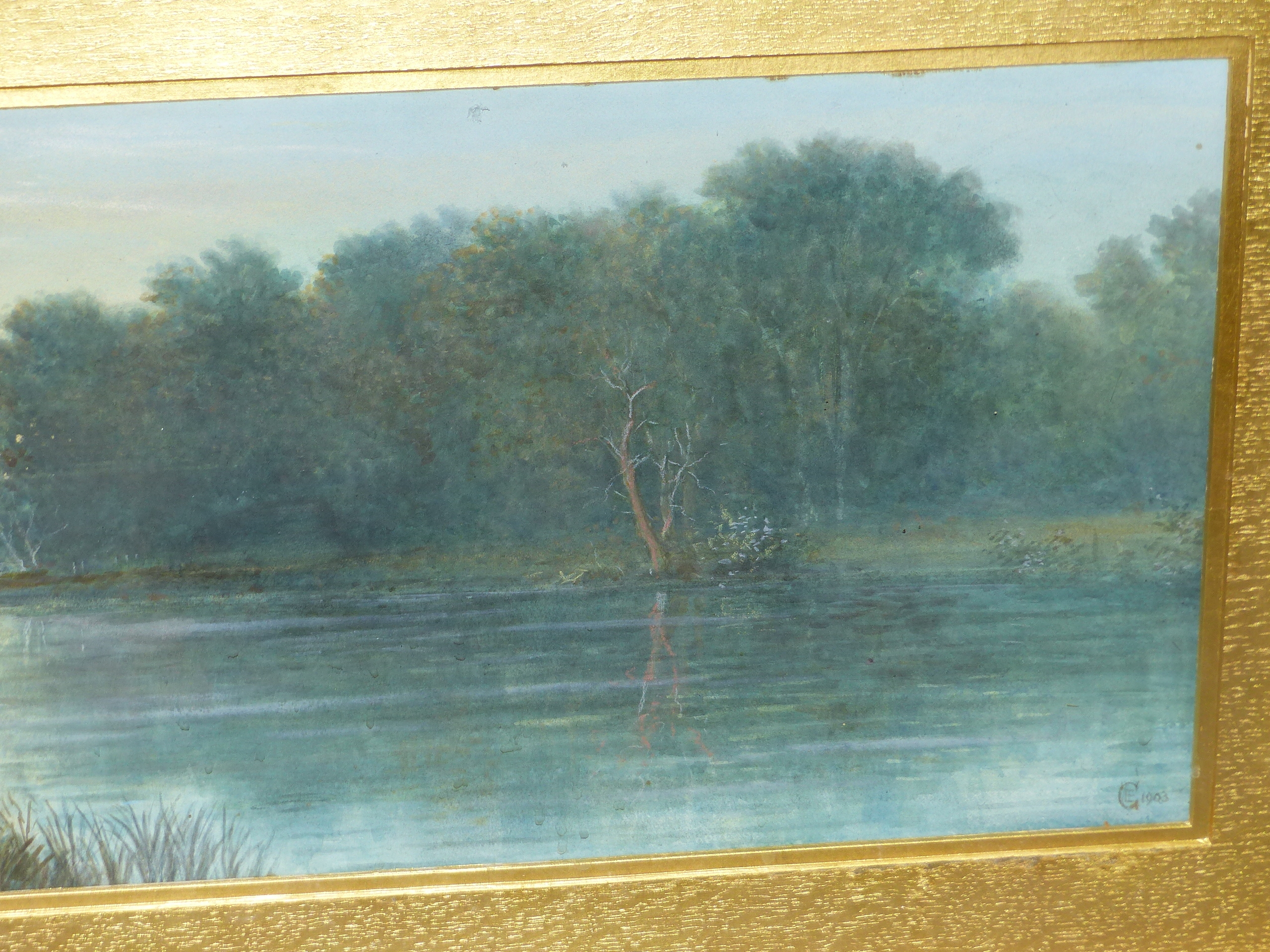 19th/20th C. ENGLISH SCHOOL HOMEWARD BOUND, SIGNED INDISTINCTLY WATERCOLOUR. 28 x 46 cms TOGETHER - Image 9 of 15