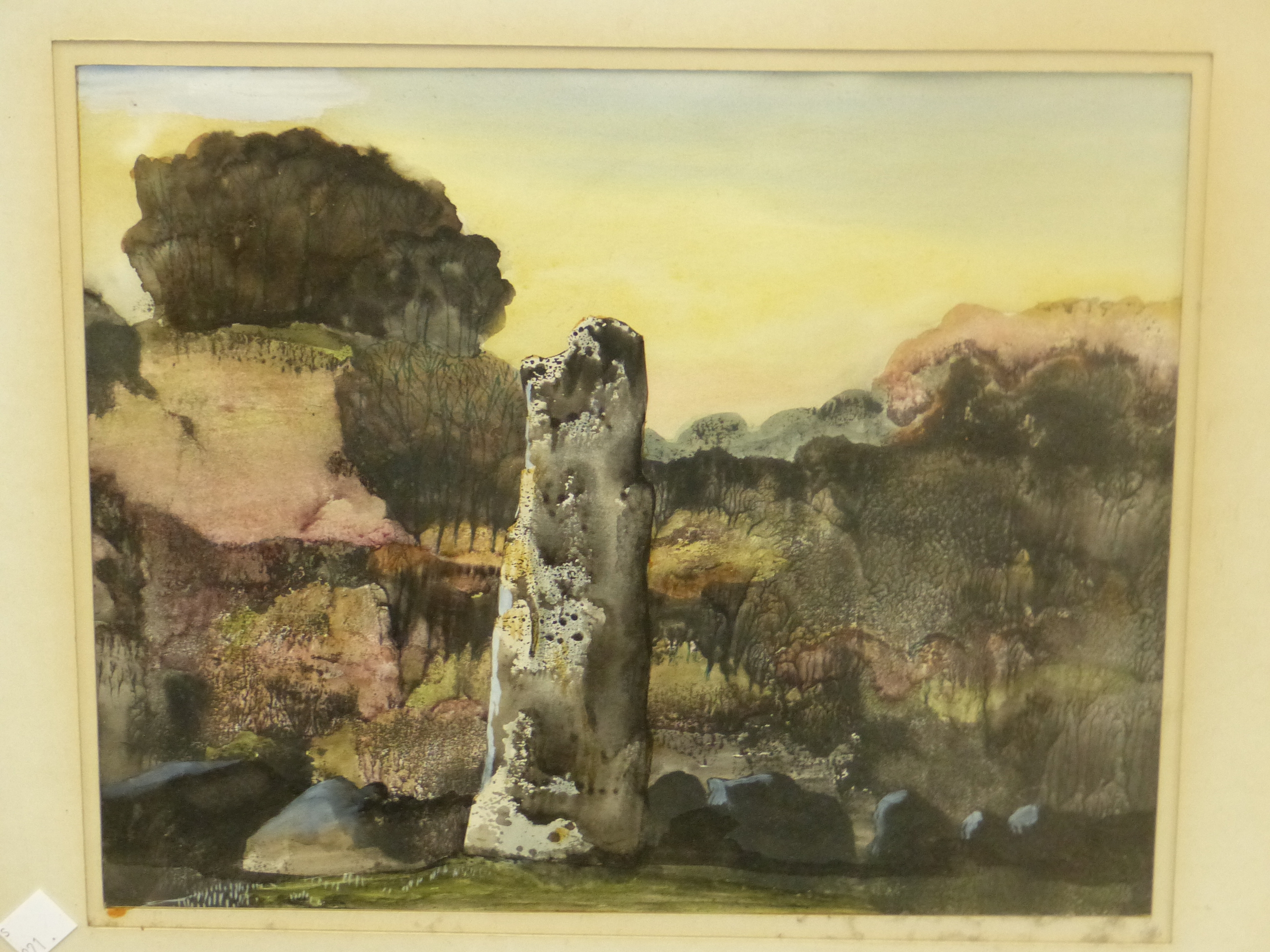 20th CENTURY JAPANESE SCHOOL. A WOODED RIVER VALLEY, SIGNED INDISTINCTLY. 33 x 24cms. TOGETHER - Image 2 of 4