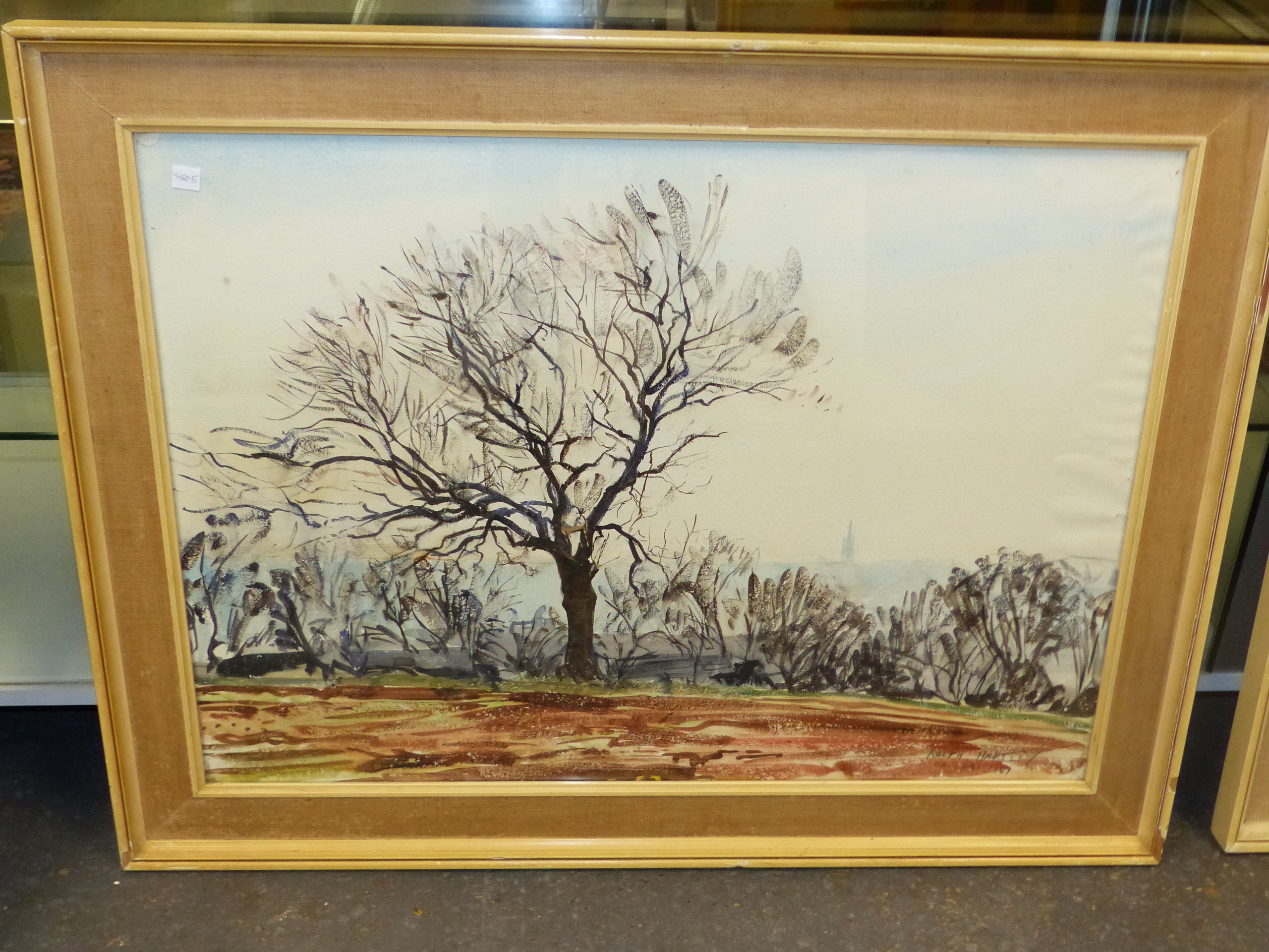 •RALPH HARTLEY (1926-1988 ARR. TWO LANDSCAPE OF TREES IN RURAL SETTINGS, SIGNED WATERCOLOURS 57 x 76 - Image 5 of 7