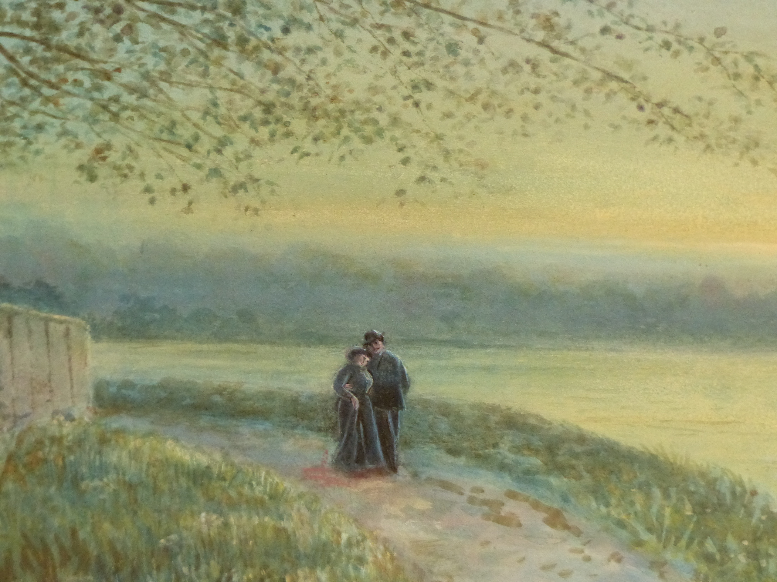 19th/20th C. ENGLISH SCHOOL HOMEWARD BOUND, SIGNED INDISTINCTLY WATERCOLOUR. 28 x 46 cms TOGETHER - Image 10 of 15