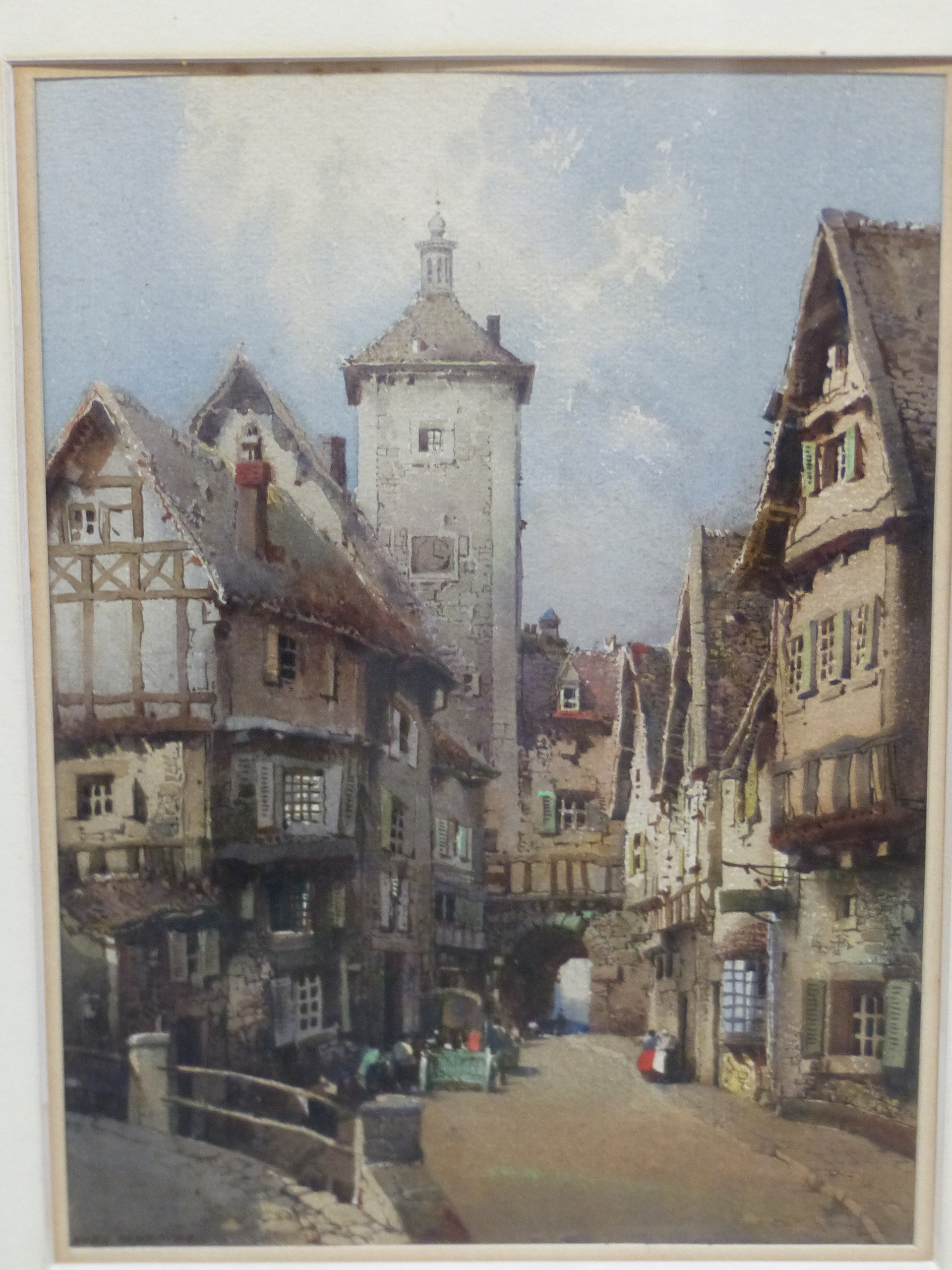 NOEL H LEAVER (1889-1951) A PAIR OF TOWN SCENES, SIGNED WATERCOLOURS. 26 x 18 cm (2) - Image 7 of 9
