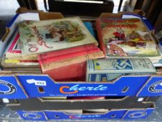A QUANTITY OF VINTAGE CHILDREN'S BOOKS, BIGGLES, BLYTON, AND OTHERS.