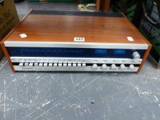 A TANDBERG TEAK CASED TUNER. MODEL NUMBER TR-1000.
