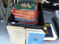 A LARGE COLLECTION OF VINTAGE MAGAZINES LOOK AND LEARN RANGER AND FUTHER BOOKS TITLED THE YEARS