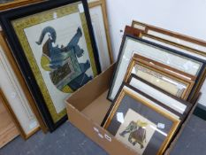 A GROUP OF PICTURES INCLUDING SOME PENCIL SIGNED LIMITED EDITION PRINTS, INDIAN WATERCOLOURS OF