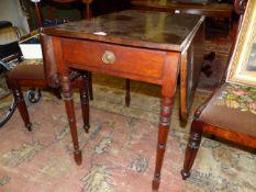 A 19th C. MAHOGANY PEMBROKE TABLE. W 96 X D 79 X H 72cms.
