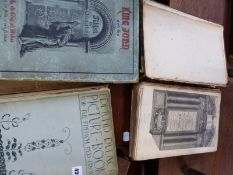 A 1669 DATED BOX OF COMMON PRAYER AND OTHER VINTAGE BOOKS.