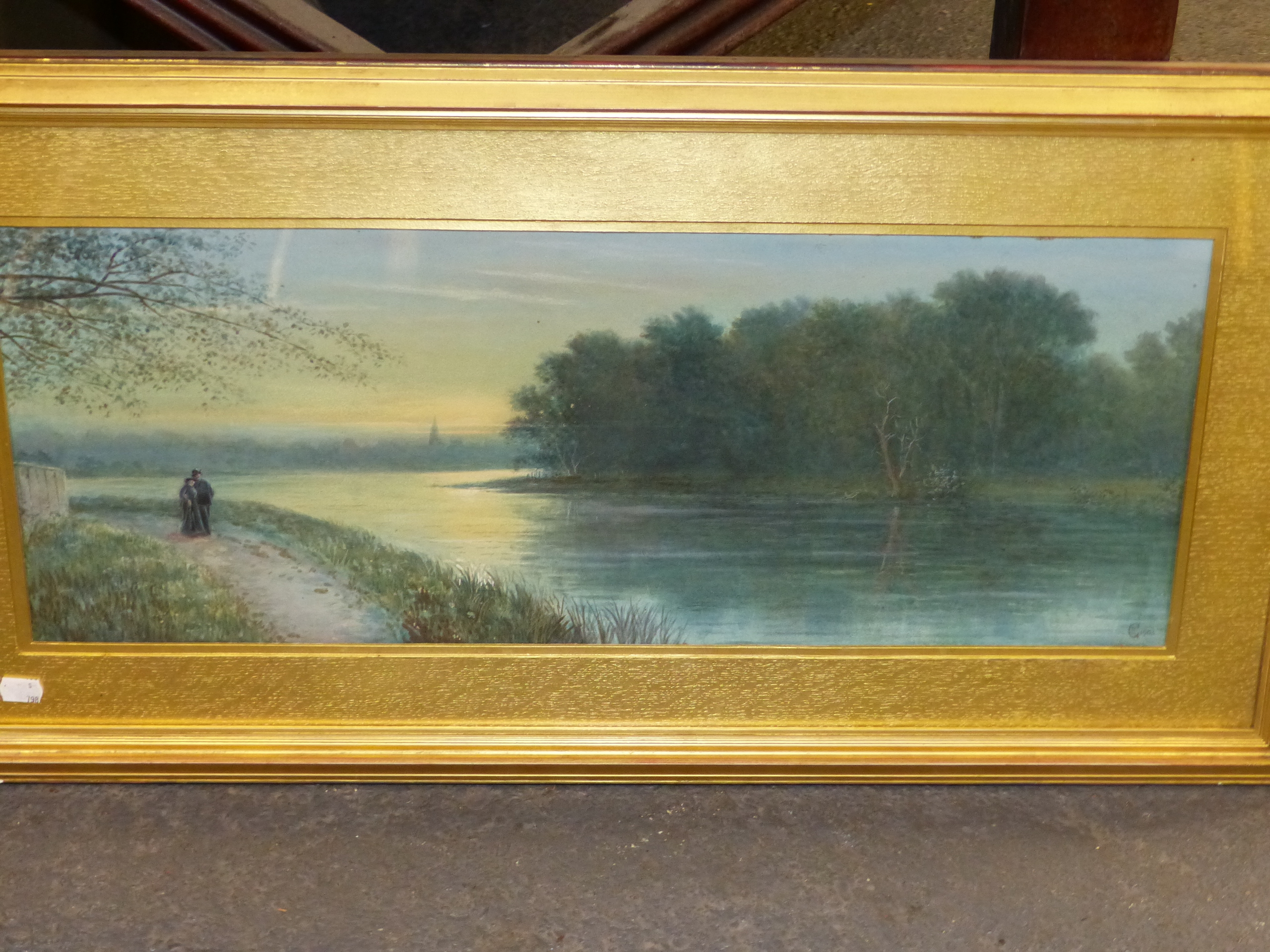 19th/20th C. ENGLISH SCHOOL HOMEWARD BOUND, SIGNED INDISTINCTLY WATERCOLOUR. 28 x 46 cms TOGETHER - Image 6 of 15