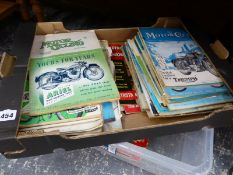 A COLLECTION OF VINTAGE MOTORCYCLE MAGAZINE, PICTURE POST AND OTHERS.